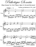 Pathetique Sonata Second Movement Easiest Piano Sheet Music ebook by Ludwig van Beethoven