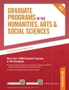Peterson's Graduate Programs in the Humanities, Arts & Social Sceinces 2012 ebook by Peterson's