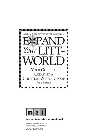Your Guide to Creating a Christian Writer Group ebook by Fay Sampson