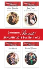 Harlequin Presents January 2018 - Box Set 1 of 2 - Alexei's Passionate Revenge\The Innocent's One-Night Surrender\His Merciless Marriage Bargain\Martinez's Pregnant Wife 電子書籍 by Helen Bianchin, Kate Hewitt, Jane Porter,...