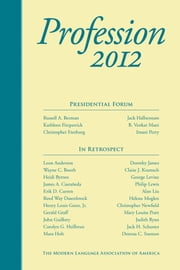 Profession 2012 ebook by Rosemary G. Feal, Russell A. Berman, Jack Halberstam,...