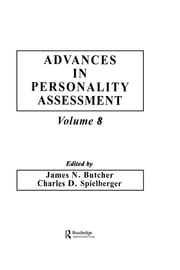 Advances in Personality Assessment - Volume 8 ebook by James N. Butcher,Charles D. Spielberger