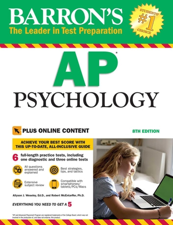 Barron's AP Psychology with Online Tests ebook by Robert McEntarffer Ph.D.,Allyson J. Weseley Ed.D.