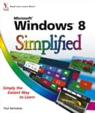 Windows 8 Simplified eBook by Paul McFedries
