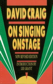 On Singing Onstage ebook by David Craig