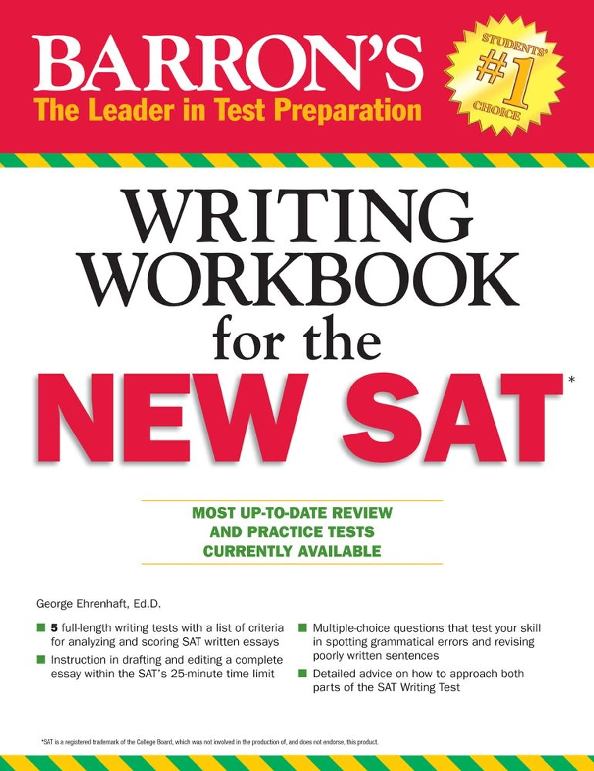 Workbooks kaplan sat critical reading workbook : Writing Workbook for the New SAT eBook by George Ehrenhaft Ed.D ...