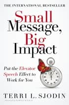 Small Message, Big Impact - Put the Elevator Speech Effect to Work for You ebook by Terri Sjodin