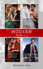 Modern Box Set 1-4/His Contract Christmas Bride/Bride Behind the Billion-Dollar Veil/Christmas Baby for the Greek/The Italian's Christma ebook by Sharon Kendrick, Cathy Williams, Jennie Lucas,...
