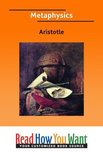 an analysis of metaphysics by aristotle Basics of metaphysics in philosophy - chapter summary what are the four causes of metaphysics as outlined by aristotle what is the 'third man' argument.