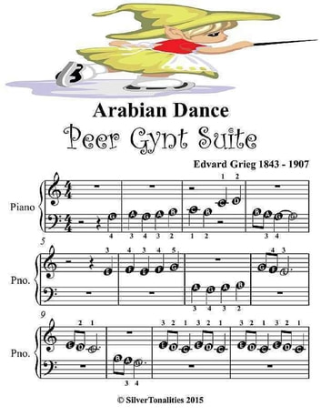 Arabian Dance Peer Gynt Suite - Beginner Tots Piano Sheet Music ebook by Silver Tonalities