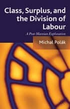 Class, Surplus, and the Division of Labour ebook by M. Polák