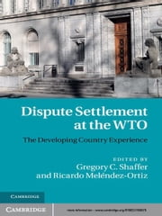Dispute Settlement at the WTO - The Developing Country Experience ebook by Gregory C. Shaffer,Ricardo Meléndez-Ortiz