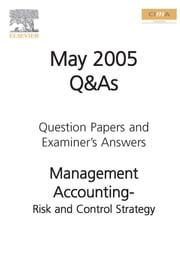 Cima May 2005 Q&A Risk and Control Strategy ebook by Cima