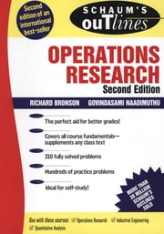 Schaum's Outline of Operations Research ebook by Richard Bronson,Govindasami Naadimuthu