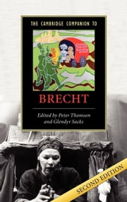 The Cambridge Companion to Brecht ebook by Thomson, Peter