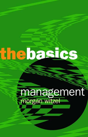 Management: The Basics ebook by Morgen Witzel