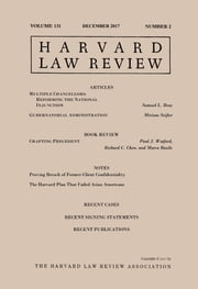 Harvard Law Review: Volume 131, Number 2 - December 2017 ebook by Harvard Law Review