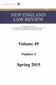 New England Law Review: Volume 49, Number 3 - Spring 2015 ebook by New England Law Review