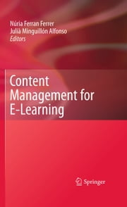 Content Management for E-Learning ebook by