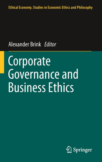 Corporate Governance and Business Ethics ebook by