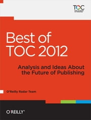 Best of TOC 2012 ebook by O'Reilly Radar Team