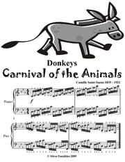 Donkeys Carnival of the Animals - Elementary Piano Sheet Music Junior Edition ebook by Camille Saint Saens