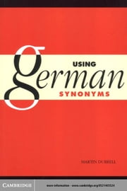 Using German Synonyms ebook by Durrell, Martin