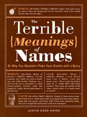 The Terrible Meanings of Names: Or Why You Shouldn't Poke Your Giselle with a Barry ebook by Justin Cord Hayes