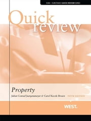 Juergensmeyer and Brown's Sum and Substance Quick Review on Property, 5th ebook by Julian Juergensmeyer,Carol Brown