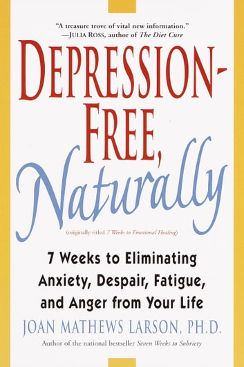 Depression-Free, Naturally - 7 Weeks to Eliminating Anxiety, Despair, Fatigue, and Anger from Your Life ebook by Joan Mathews Larson, PhD
