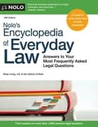 Nolo's Encyclopedia of Everyday Law ebook by Shae Irving J.D.,Nolo Editors