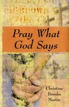Pray What God Says ebook by Christine Brooks Martin