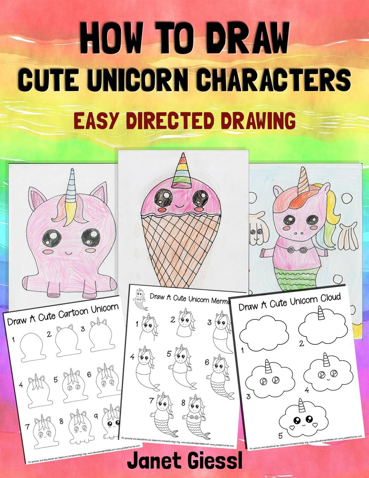 How To Draw Cute Unicorn Characters Ebook By Janet Giessl