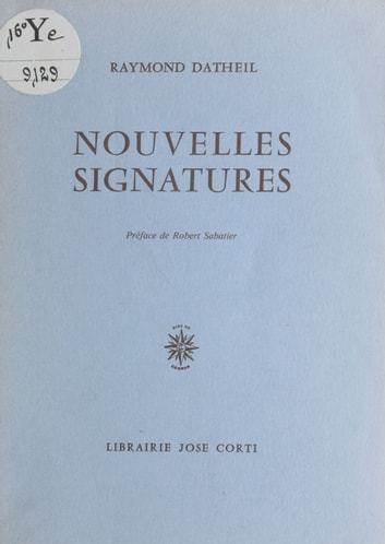 Nouvelles signatures ebook by Raymond Datheil