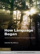 How Language Began - Gesture and Speech in Human Evolution ebook by David McNeill