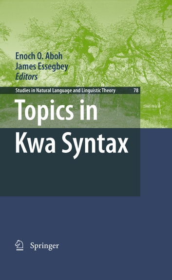 Topics in Kwa Syntax ekitaplar by