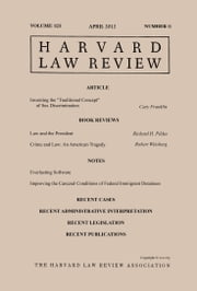 Harvard Law Review: Volume 125, Number 6 - April 2012 ebook by Harvard Law Review