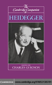 Cambridge Companion Heidegger 1ed ebook by Guignon, Charles