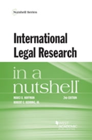 International Legal Research in a Nutshell ebook by Marci Hoffman, Robert Berring