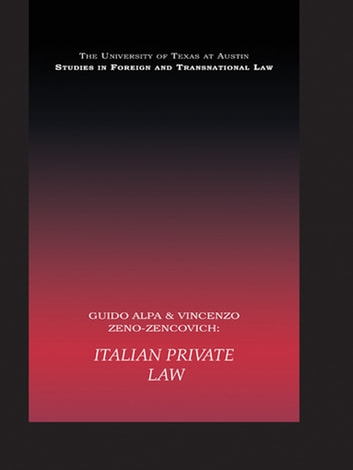 italian private law alpa guido zeno zencovich vincenzo