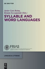 Syllable and Word Languages ebook by Javier Caro Reina,Renata Szczepaniak