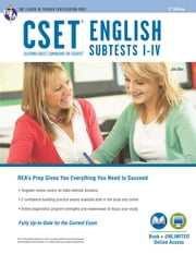 CSET English Subtests I-IV Book + Online ebook by John Allen, Editors of REA