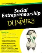 Social Entrepreneurship For Dummies ebook by Mark Durieux, Robert Stebbins