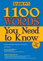 1100 Words You Need to Know ebook by Bromberg, Murray