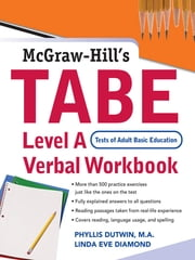 TABE Level A Verbal Workbook ebook by Phyllis Dutwin,Linda Eve Diamond