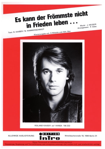 Es kann der Frömmste nicht in Frieden leben - as performed by Roland Kaiser, Single Songbook ebook by Norbert Hammerschmidt,Roland Kaiser,Joachim Heider