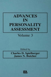 Advances in Personality Assessment - Volume 3 ebook by C. D. Spielberger,J. N. Butcher,Charles D. Spielberger