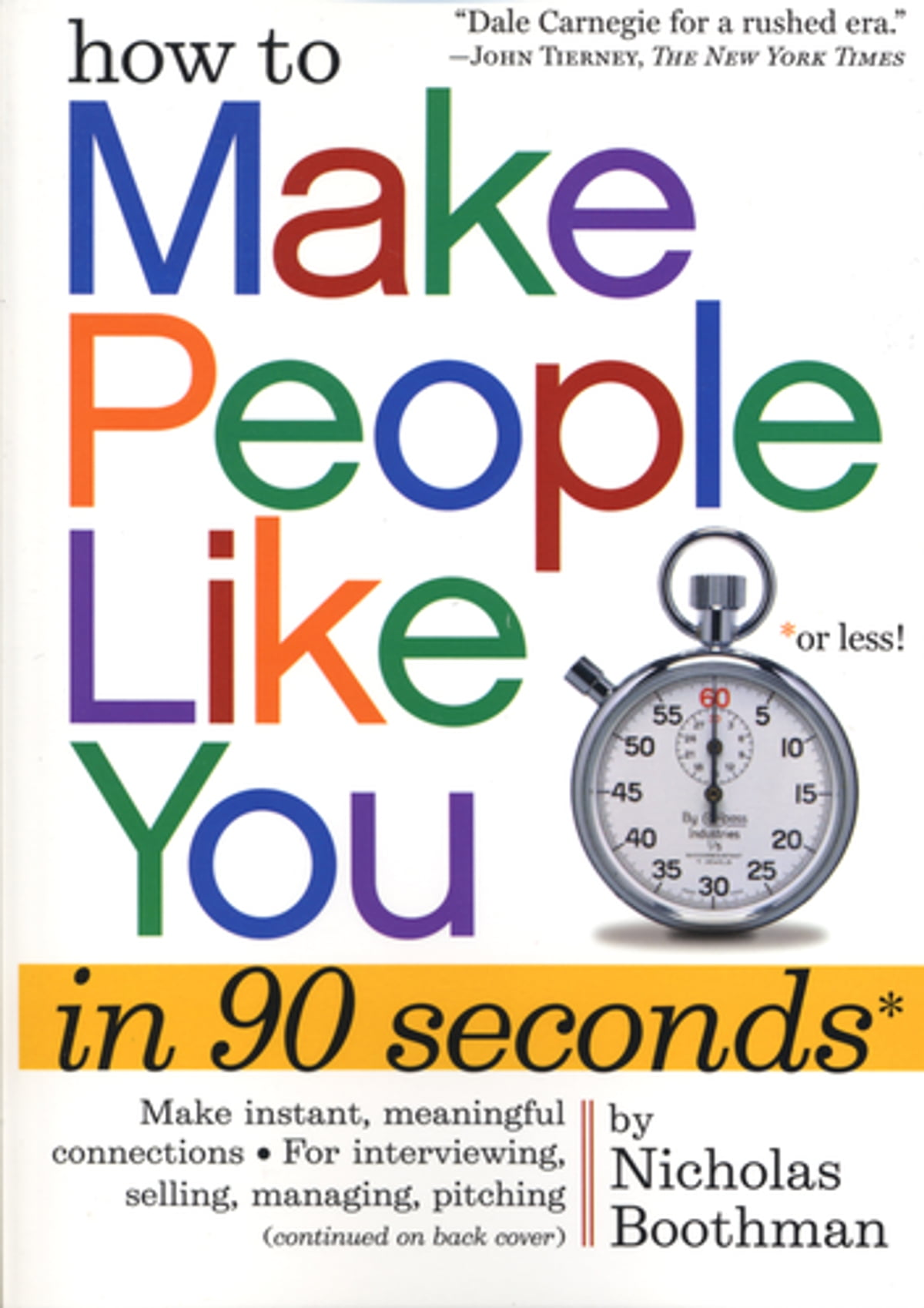 How to make people like you in 90 seconds or less ebook by how to make people like you in 90 seconds or less ebook by nicholas boothman 9780761148425 rakuten kobo fandeluxe Epub