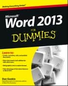 Word 2013 For Dummies ebook by