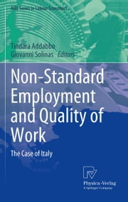 Non-Standard Employment and Quality of Work - The Case of Italy ebook by Tindara Addabbo, Giovanni Solinas